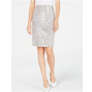 INC Sequin Pencil Skirt. 95% Nylon, 5% Spandex. XL